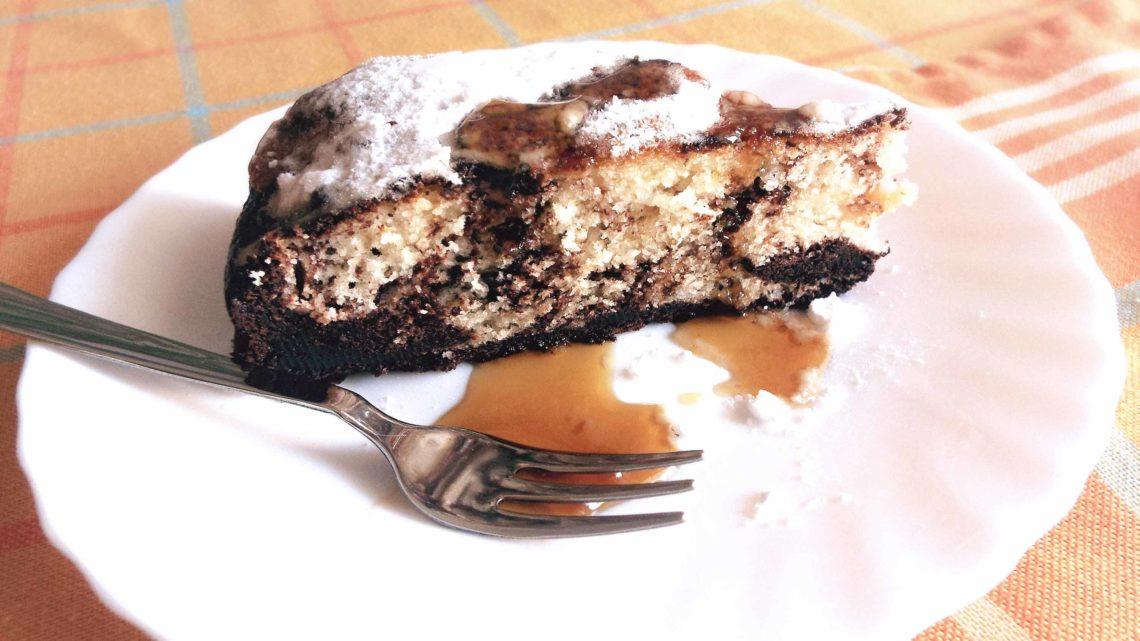 torta marmorizzata a cioccolato