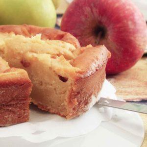 Torta di cuore di mele senza grassi aggiunti