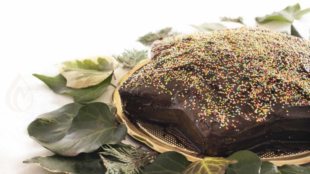 torta a stella di carnevale