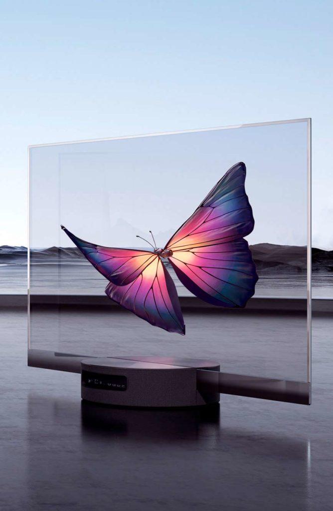 Com'è la tv trasparente?