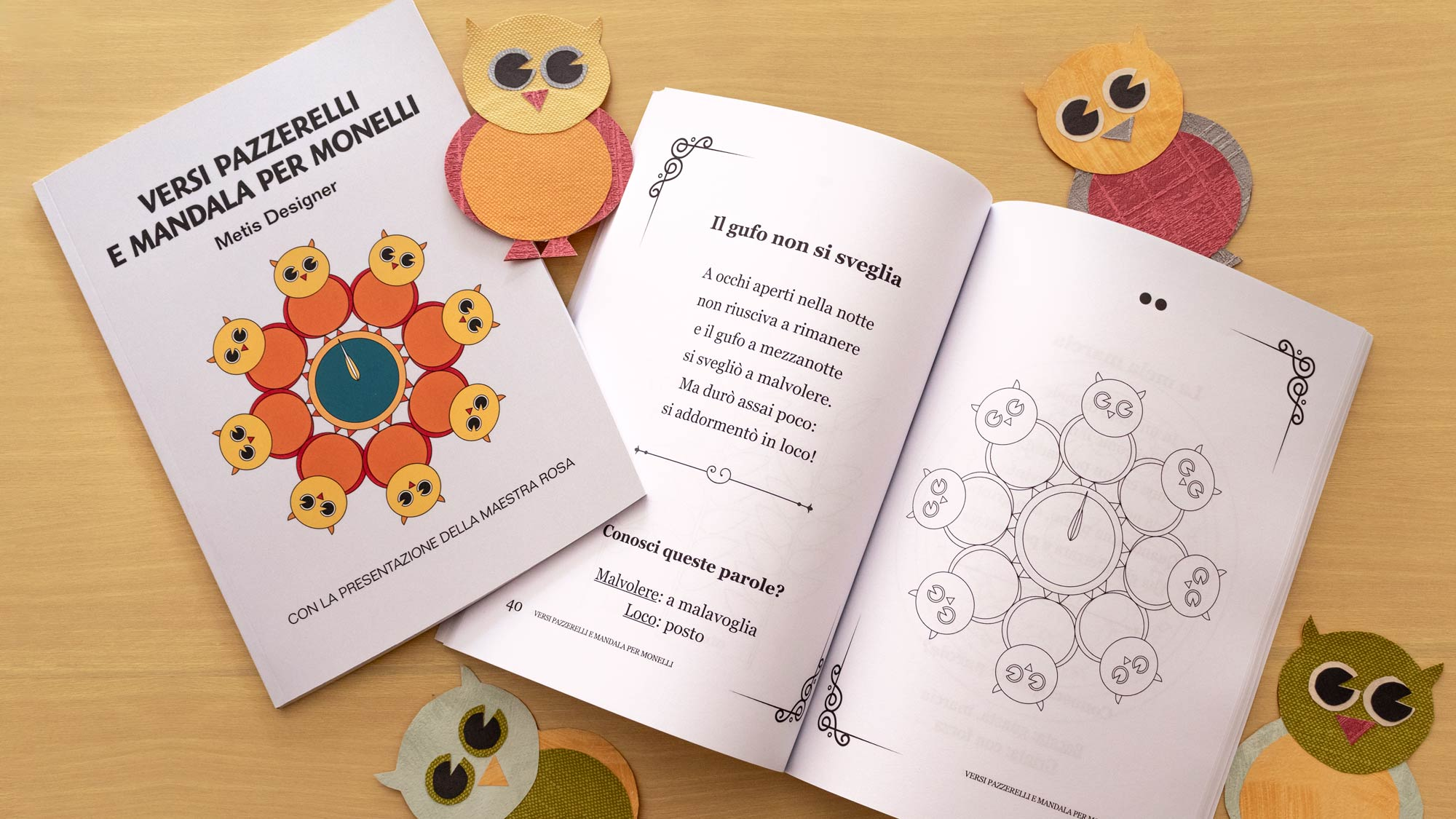 Idea regalo di Natale per bimbi: Versi pazzerelli e mandala per monelli